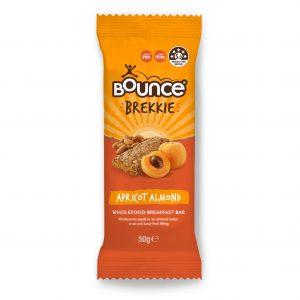 BOUNCE Brekkie Apricot Almond Bar 50g x 12 Display