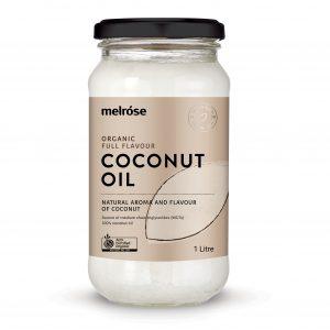 MELROSE Organic Full Flavour Coconut Oil 1L