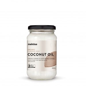 MELROSE Organic Coconut Oil Flavour Free 325ml