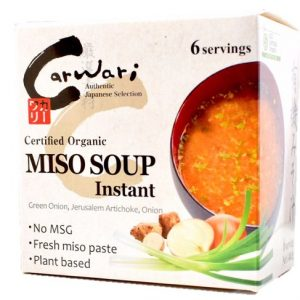CARWARI Organic Miso Soup Instant x 6 Serves (102g net)