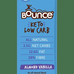 BOUNCE Keto Low Carb Bar Almond Vanilla 35g x 12 Display