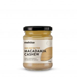 MELROSE 100% Nut Butter Macadamia Cashew 250g