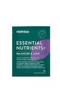 MELROSE Essential Nutrients+ Balanced And Lean Sachet 3g x 30 Pack