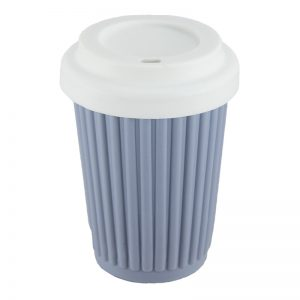 ONYA Reusable Coffee Cup Grey Blue 355ml