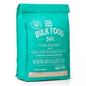 ONYA Reusable Bulk Food Bag Aqua (Large)