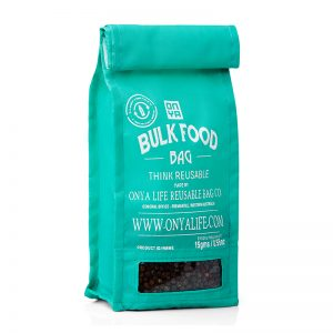 ONYA Reusable Bulk Food Bag Aqua (Small)