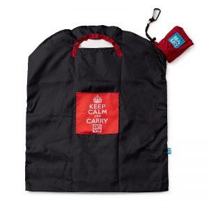 ONYA Reusable Shopping Bag Black Keep Calm Large