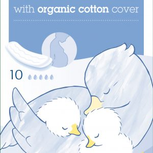 NATRACARE Maternity Pads with Organic Cotton Cover x 10 Pack