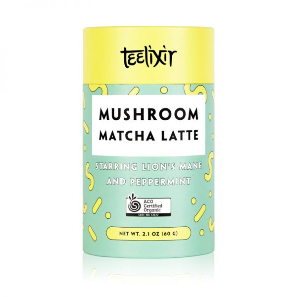 TEELIXIR Organic Mushroom Matcha Latte (Starring Lion's Mane and Peppermint) 60g