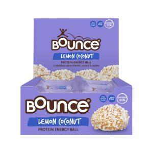 BOUNCE Energy Balls Lemon Coconut 40g x 12 Display