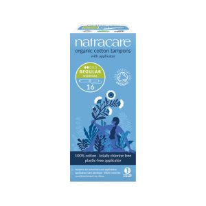 NATRACARE Organic Cotton Tampons Regular with Applicator x 16 Pack