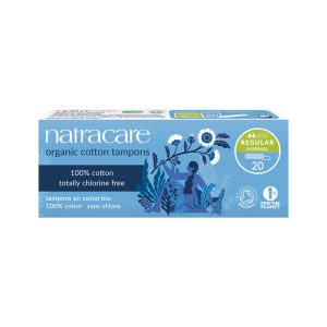 NATRACARE Organic Cotton Tampons Regular x 20 Pack