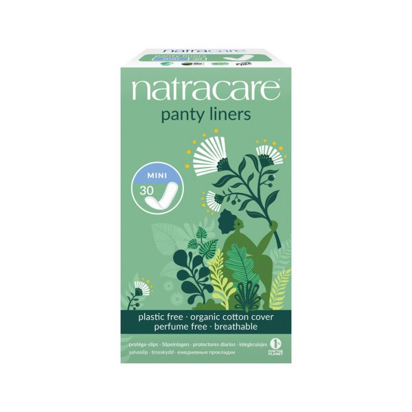 NATRACARE Panty Liners Mini with Organic Cotton Cover x 30 Pack