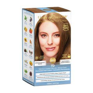 TINTS OF NATURE Permanent Hair Colour Medium Golden Blonde 7D