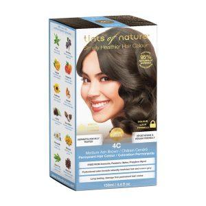 TINTS OF NATURE Permanent Hair Colour Medium Ash Brown 4C